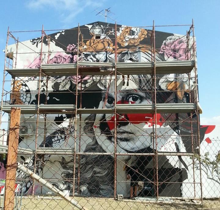 Inaugurazione del murale di Gabriel Moreno