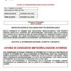 Allerta meteo per il 22 e il 23 ottobre 2017