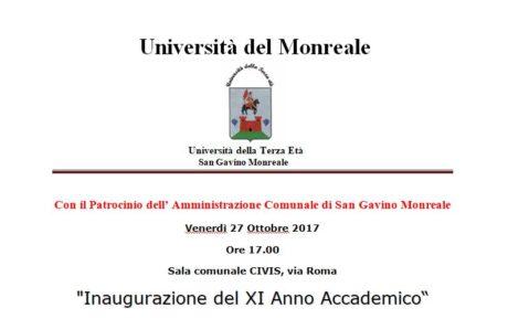 Inaugurazione del XI Anno Accademico dell'Università della Terza Età