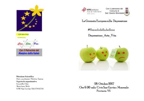 """""""La Giornata Europea sulla depressione"""", un convegno a San Gavino"""