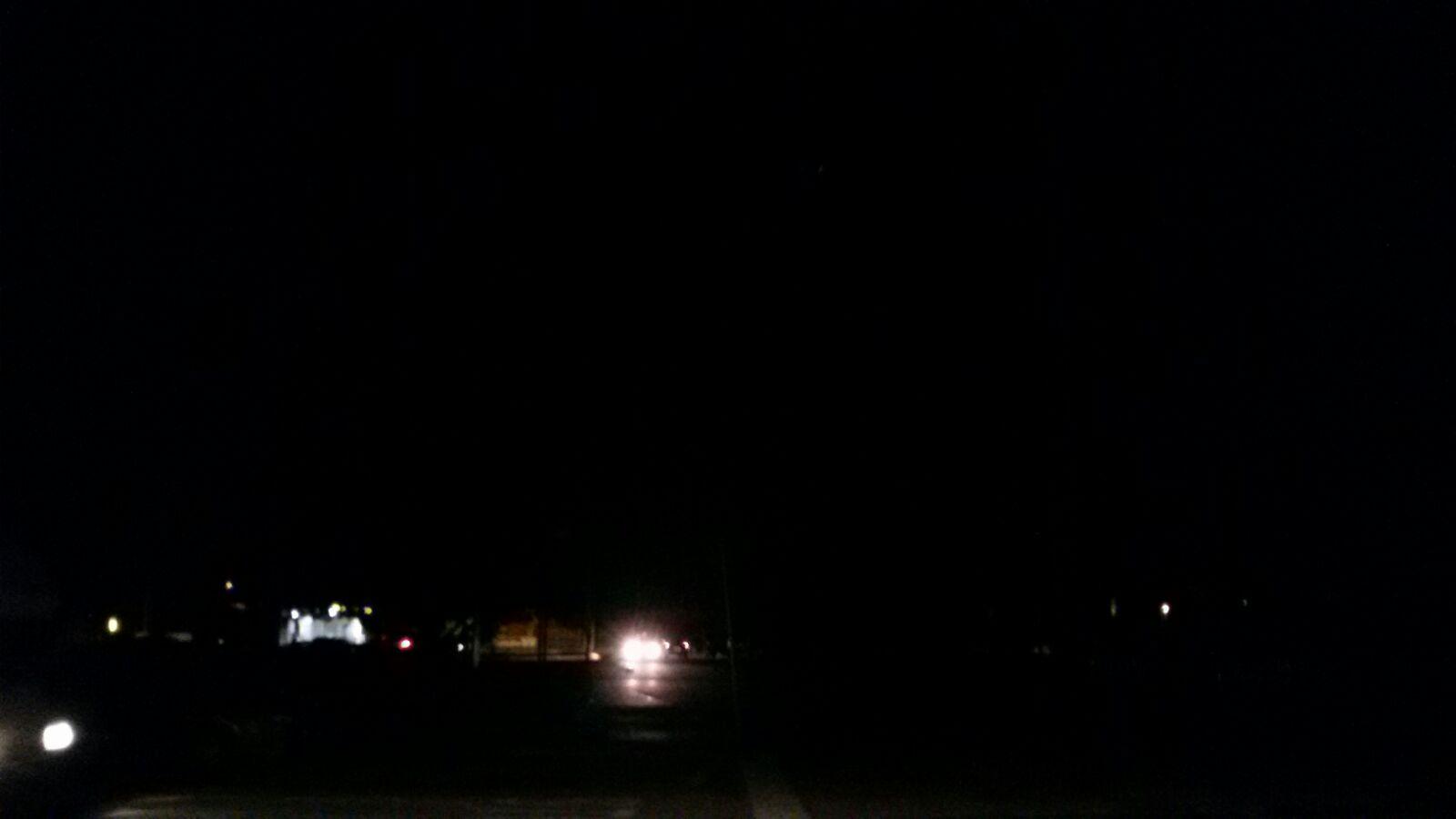 Parcheggio dell'ospedale al buio