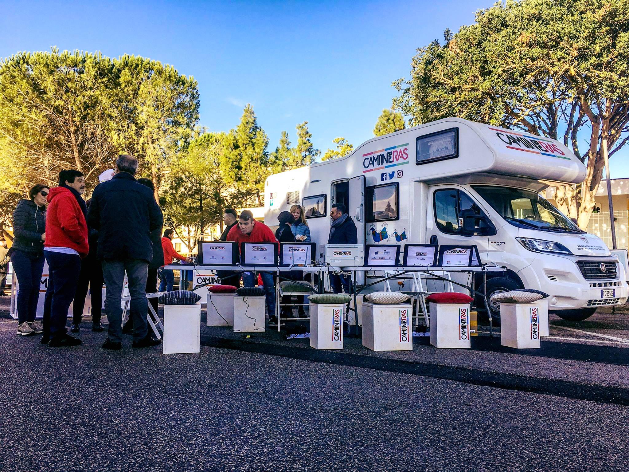 Il camper di Camineras a San Gavino Monreale