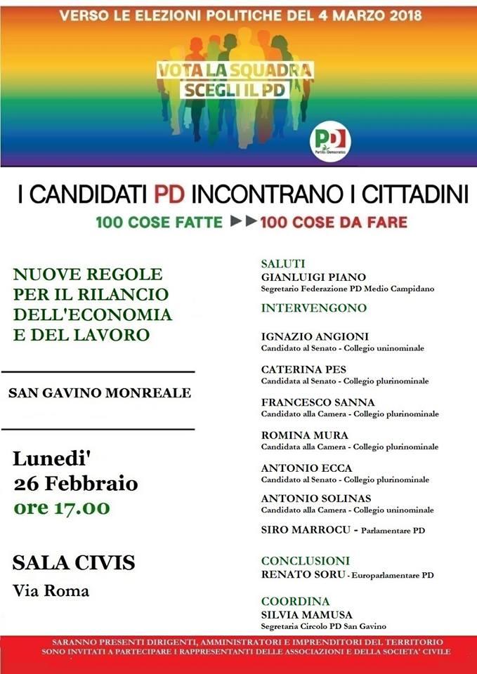 Elezioni Politiche 2018 - Presentazione dei Candidati PD