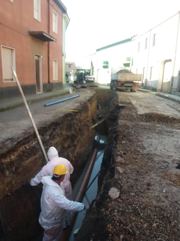 San Gavino, riparazione delle rete idrica in via Cagliari