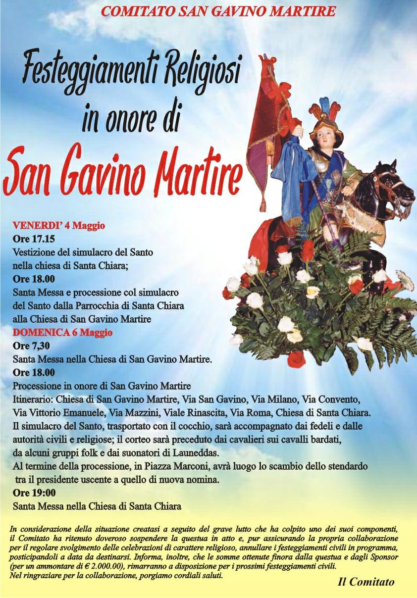 Festa di San Gavino Martire 2018
