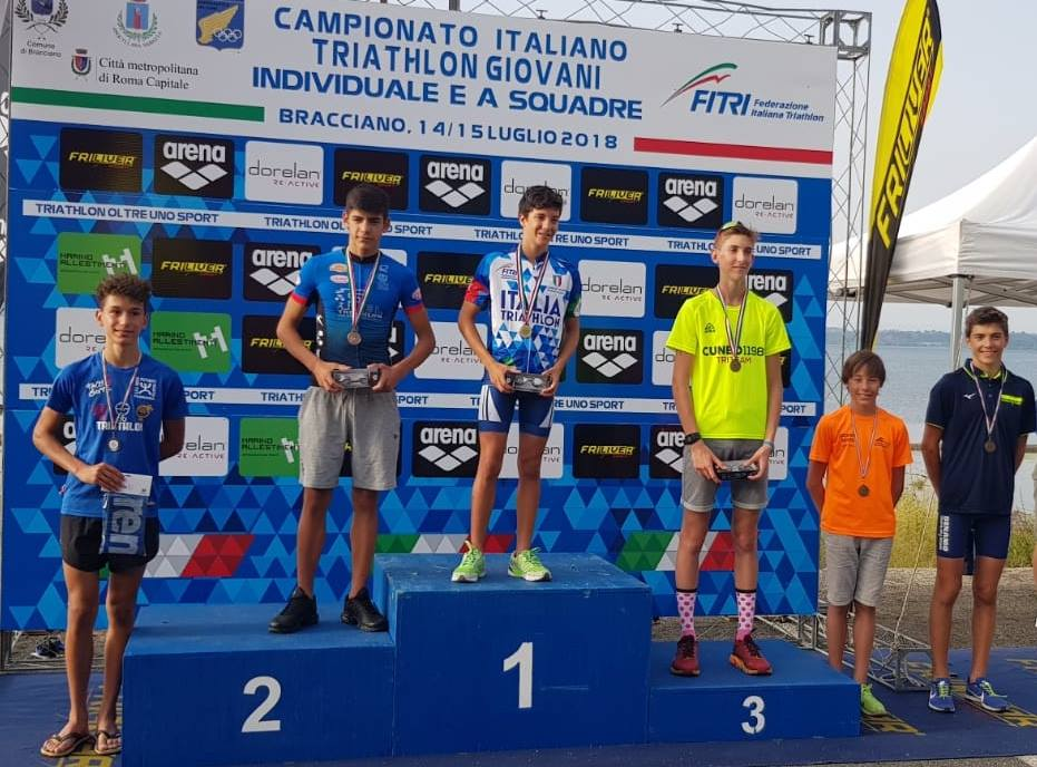 Riccardo Spanu è vicecampione italiano Youth A di Triathlon