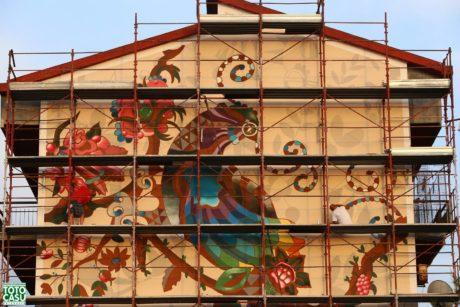 """Nascita di un nuovo murale di Giorgio Casu: la """"Pavoncella"""""""
