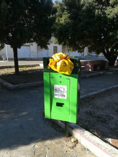 Piazza Salvo D'Acquisto, uso incivile dei cestini dei rifiuti