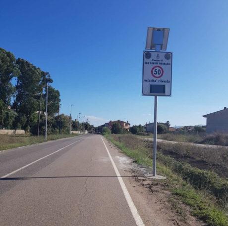 Via Pascoli, installato un rilevatore della velocità