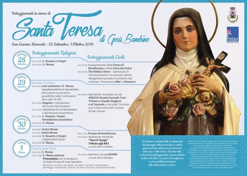 Festa di Santa Teresa 2018