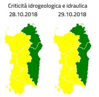 Condizioni meteo avverse il 29 e 30 ottobre 2018