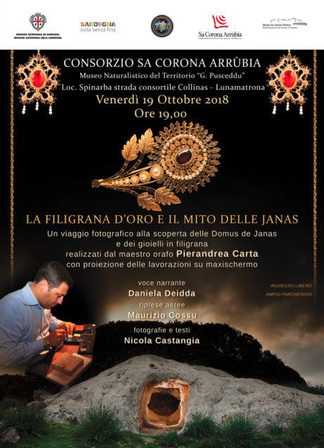 La filigrana d'oro e il mito delle Janas