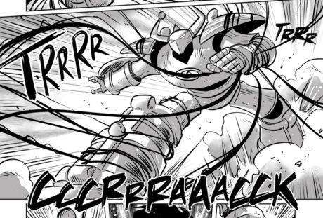 Tavola fumetto il gigante di pietra