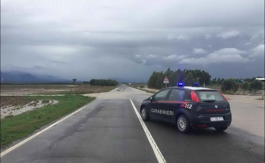 Il punto dell'esondazione (Foto Carabinieri)