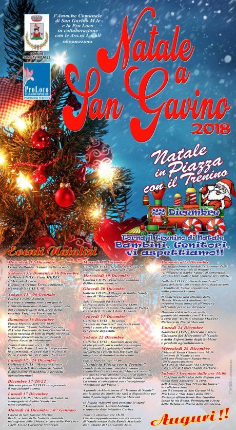 Natale 2018 a San Gavino, il programma completo