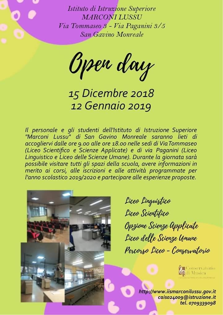 Open Day al Liceo
