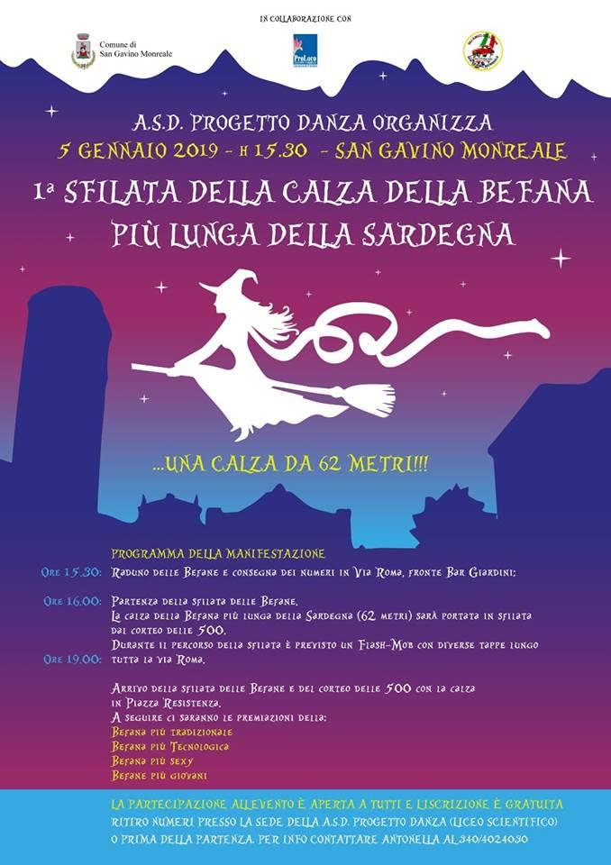 1° Sfilata della Calza della Befana più lunga della Sardegna