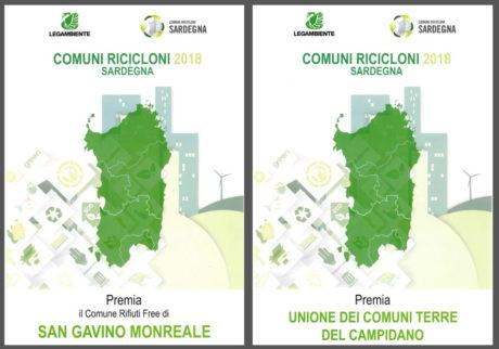 """San Gavino riceve il premio di """"Comune Riciclone 2018"""""""