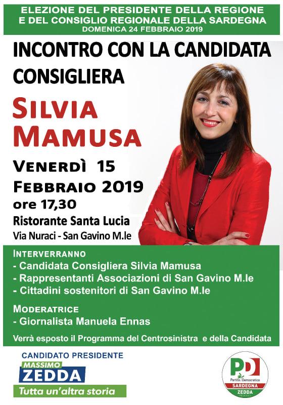 Incontro con la candidata Silvia Mamusa