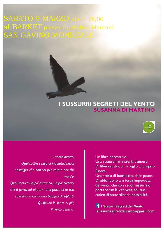 """Presentazione libro """"I sussurri segreti del vento"""""""