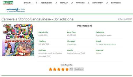 """""""Baballotti News"""": la 35° edizione del Carnevale Sangavinese partecipa al concorso """"Premio Italive 2019"""""""