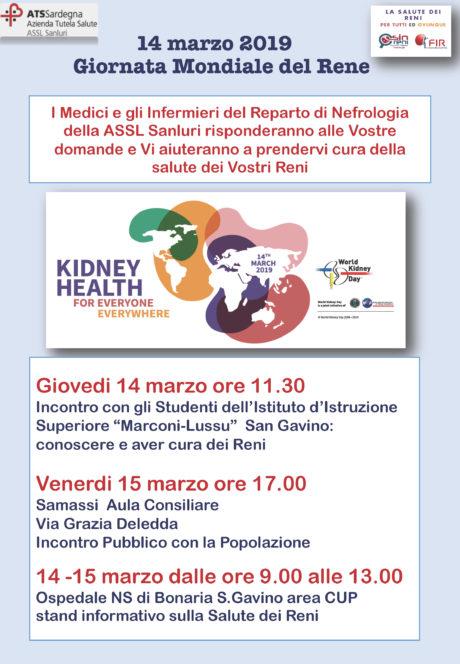 Giornata mondiale del rene, l'Ospedale di San Gavino in prima linea