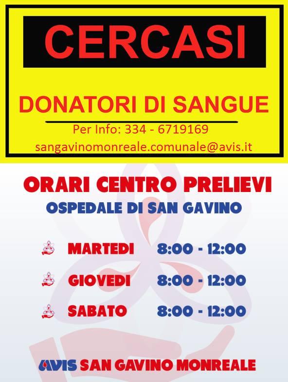 """""""Cercasi donatori di sangue"""", appello dell'AVIS"""