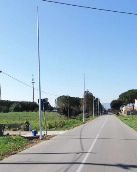 Sette nuovi lampioni in via Roma