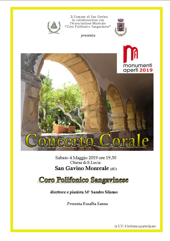 Concerto Corale - Monumenti Aperti 2019