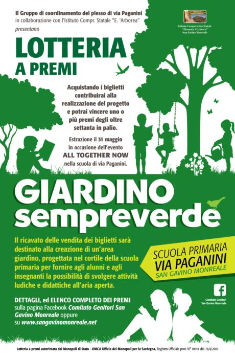 """Lotteria a premi """"Giardino sempreverde"""""""