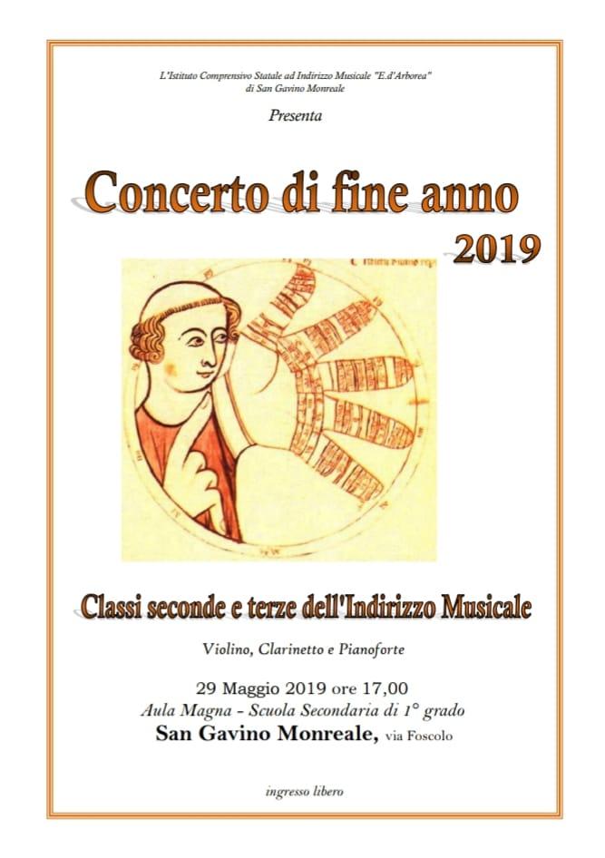 Concerto di fine anno scolastico 2019