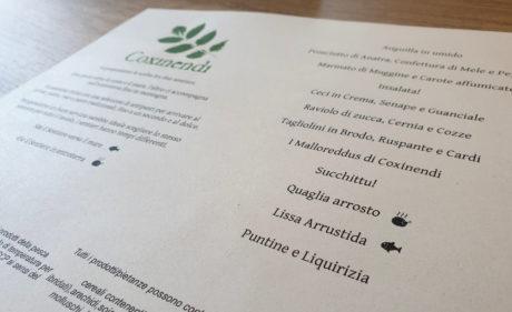 Il menu di Coxinendi