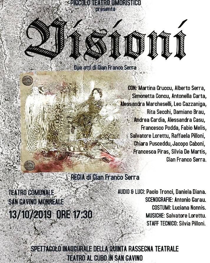 """Il Piccolo Teatro Umoristico presenta """"Visioni"""""""