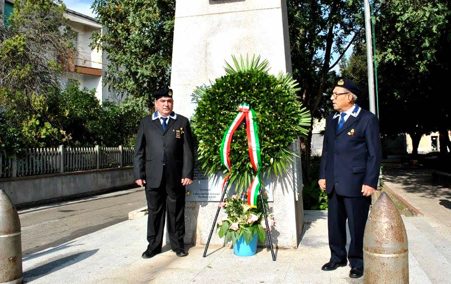 4 Novembre, San Gavino Monreale celebra l'Unità Nazionale e le Forze Armate