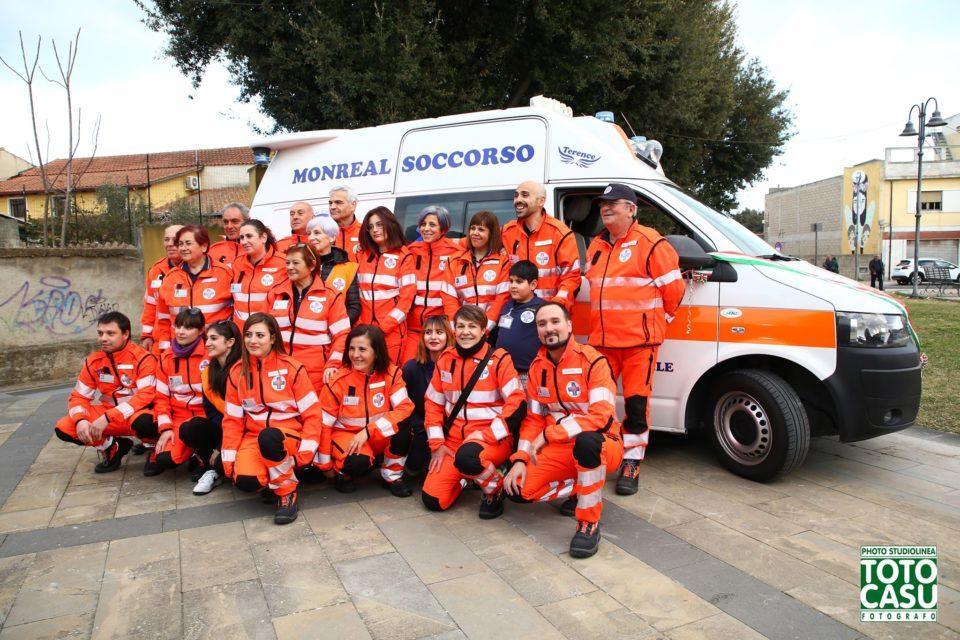 Monreal Soccorso, le foto dell'inaugurazione della nuova ambulanza