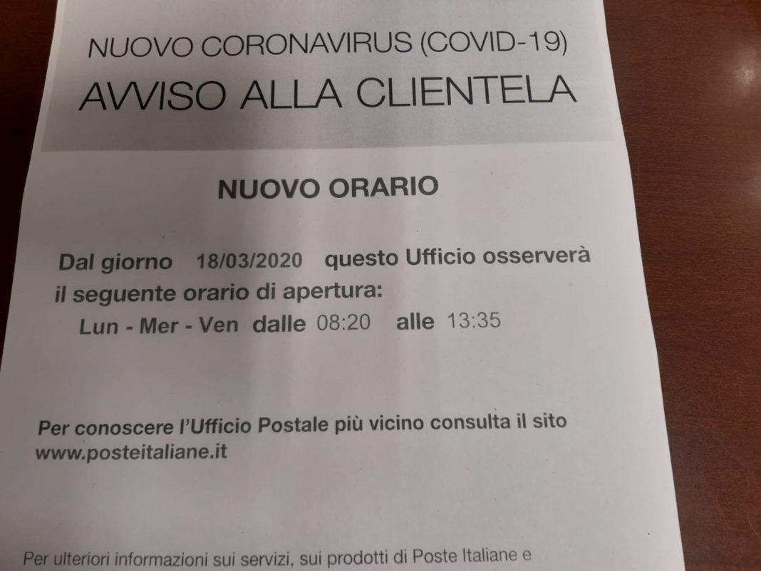 Poste Italiane e Coronavirus