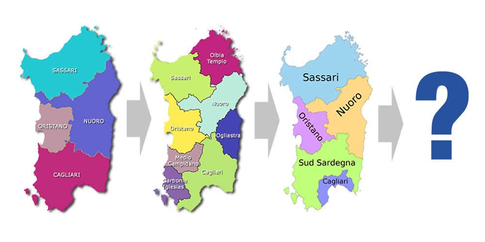 Sardegna Cartina Province.Citta Metropolitana Di Cagliari A 72 Comuni Il Fallimento Del Riordino Delle Autonomie Locali San Gavino Monreale Net