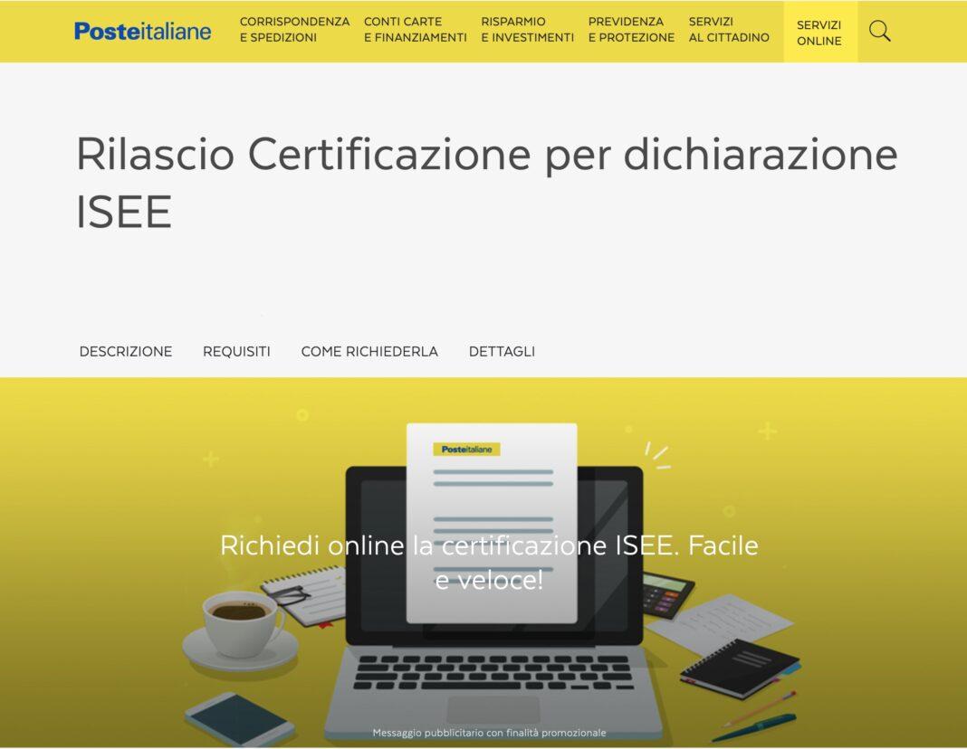 Poste Italiane, l'ISEE 2019 si potrà fare anche online