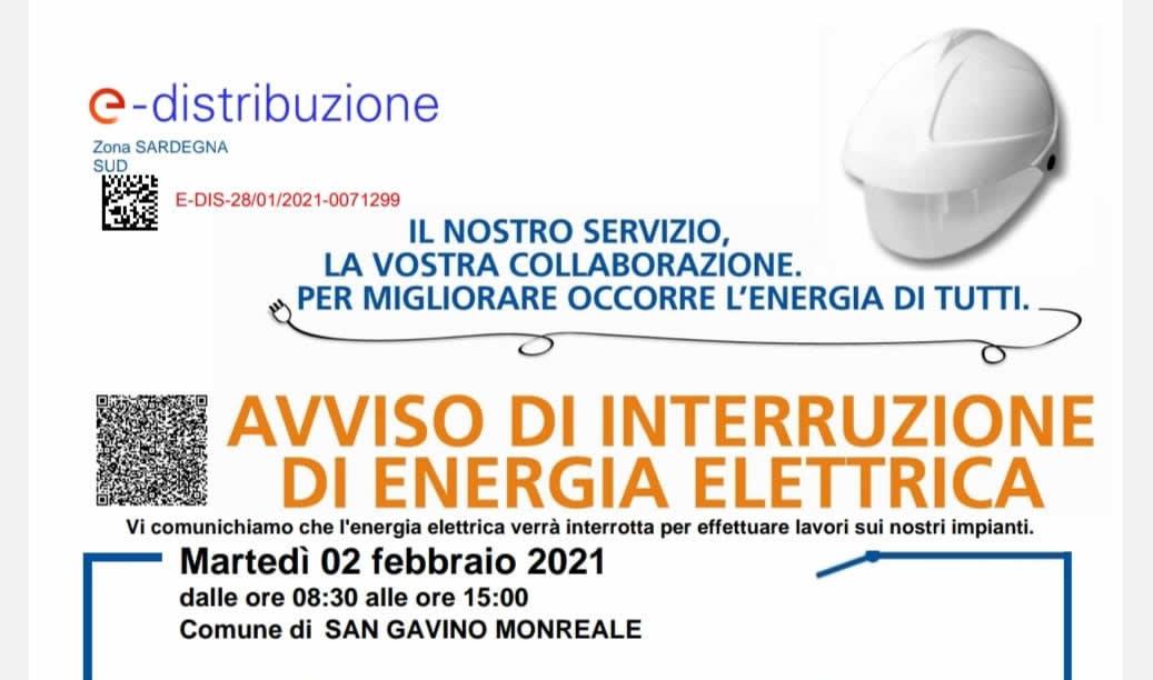 San Gavino, il 2 febbraio nuova interruzione del servizio elettrico: ecco le vie interessate