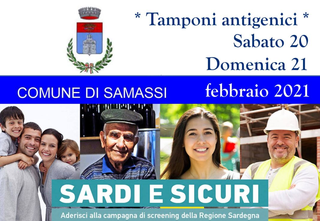 Screening anti Covid a Samassi, modalità e giorni per i tamponi