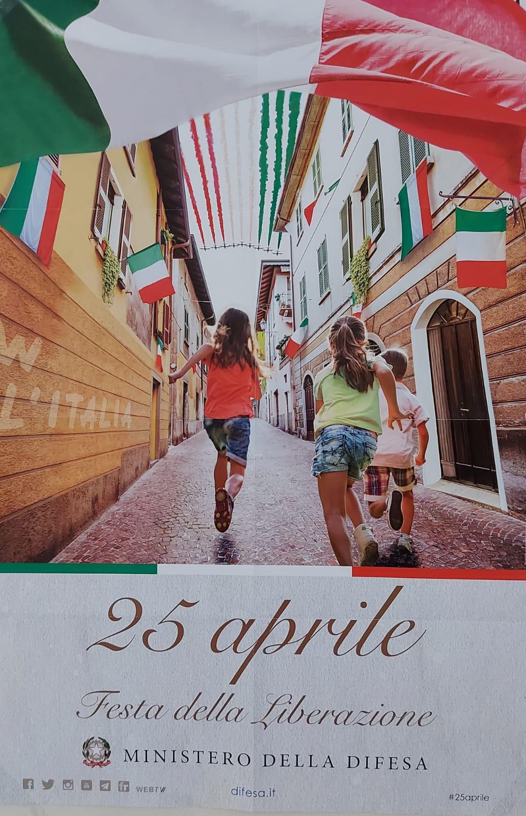 25 aprile, un manifesto in tutte le caserme dell'Arma dei Carabinieri