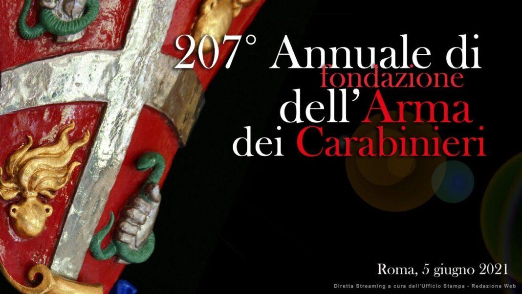 Diretta Streaming: Cerimonia 207° Annuale della Fondazione dell'Arma dei Carabinieri
