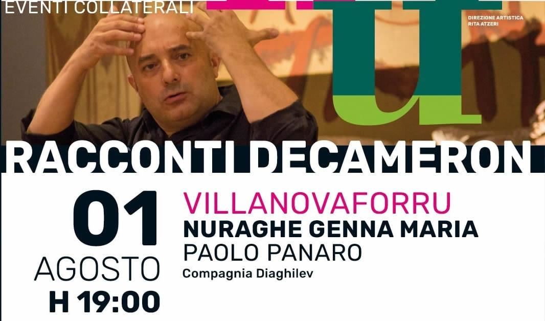 Villanovaforru, Paolo Panaro al nuraghe Genna Maria per l'Archeofestival