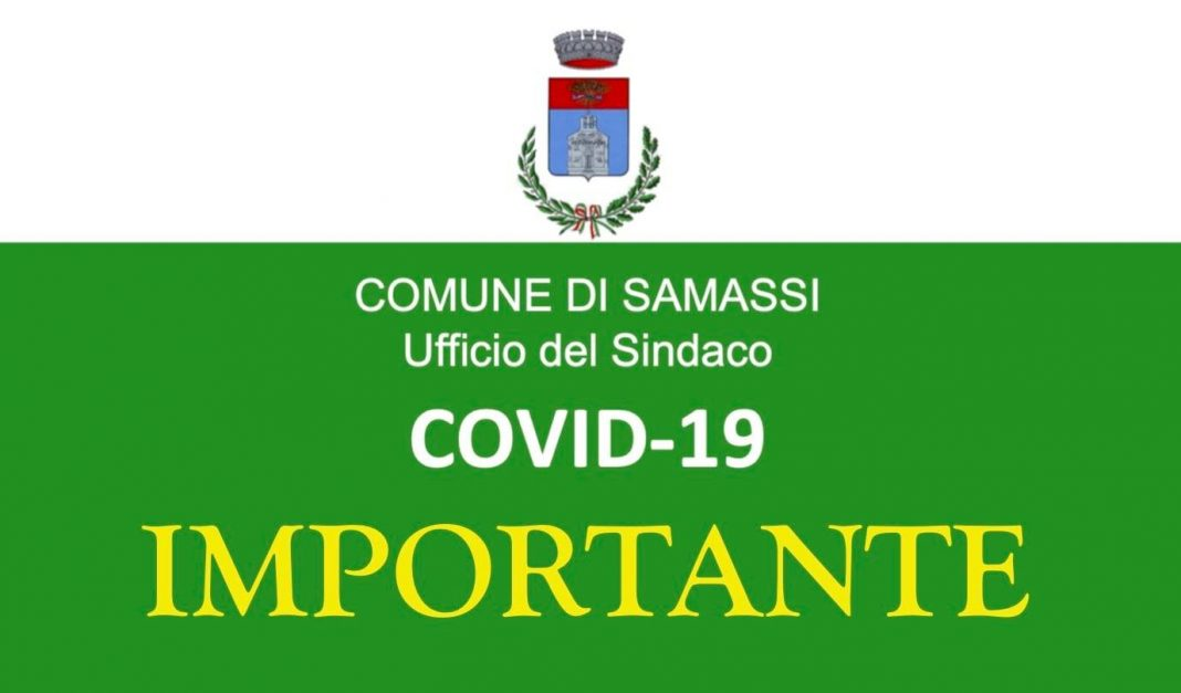 Samassi, fine dell'emergenza Covid: revocata l'ordinanza restrittiva del 16 agosto