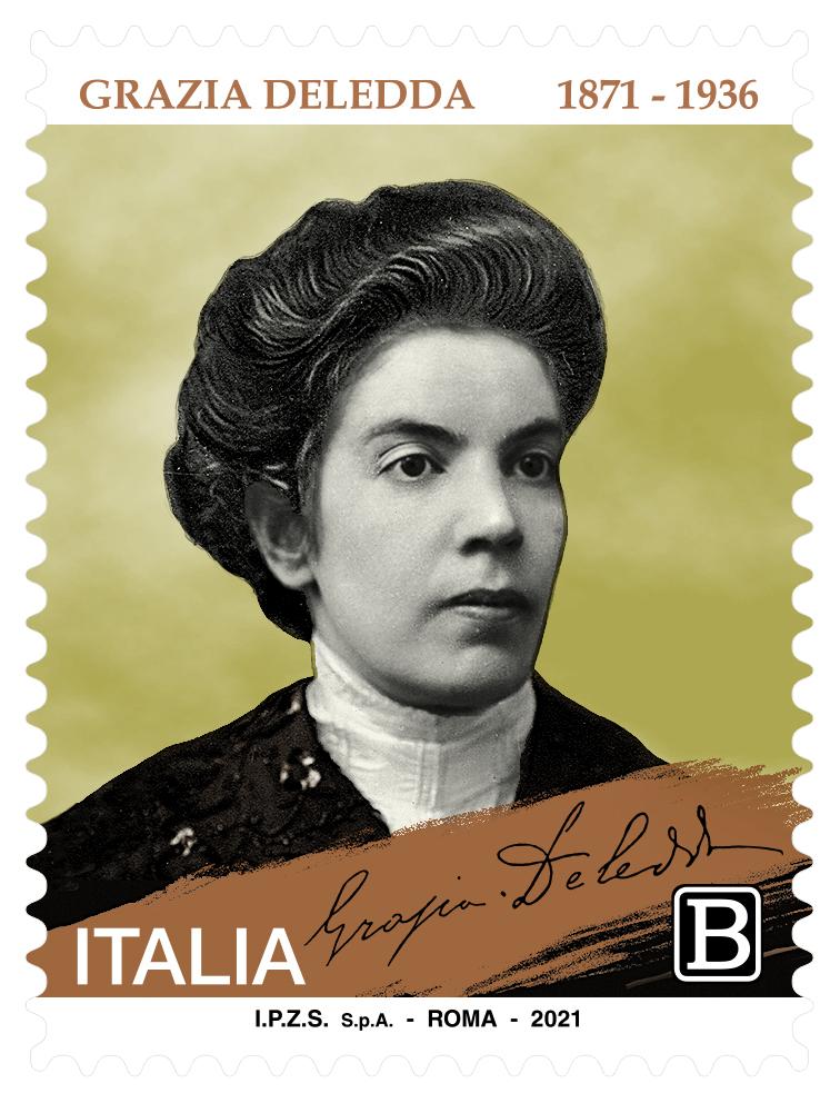 Grazia Deledda, un francobollo per i 150 anni dalla nascita della scrittrice